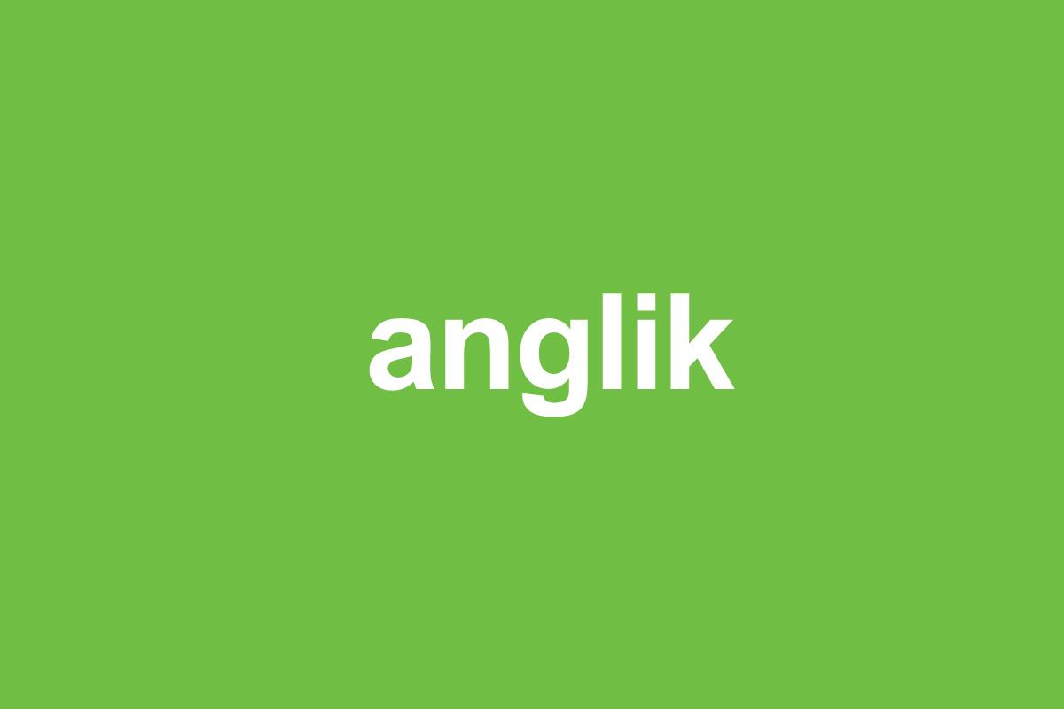 Anglik - slang