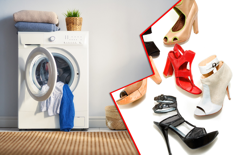 Pranie butów w pralce - ilustracja do artykułu